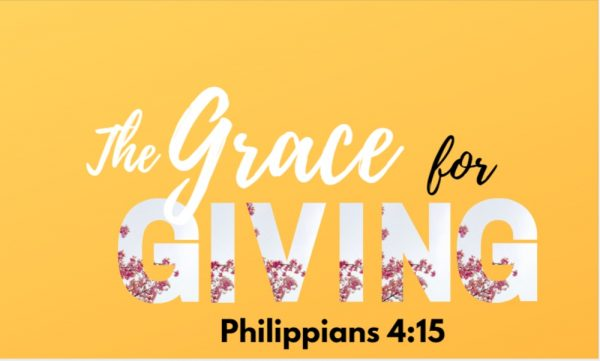The Grace for Giving & Receiving  Pt 1 Image