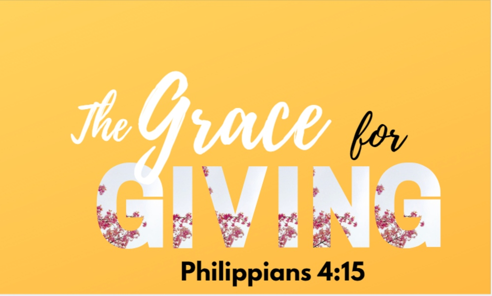 The Grace for Giving & Receiving